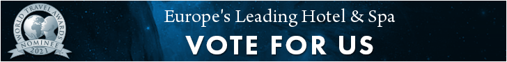 Europes leading hotel spa 2021 - Vote for us-banner